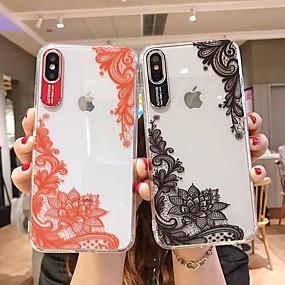 povoljno Telefoni i pribor-kutija za Apple iPhone 8 / iphone x prozirna stražnja maska cvijet mekana tpu za iPhone 6 / iphone 6 plus / iphone 6s 7 8plus xs xr xsmax