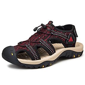 baratos Sandálias Masculinas-Homens Sapatos Confortáveis Com Transparência / Tecido elástico Verão Casual Sandálias Não escorregar Estampa Colorida Preto / Vermelho / Preto / verde