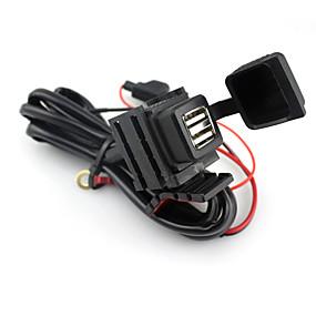 abordables Nouvelles arrivées en août-moto double interface USB chargeur 2.1a grand chargeur de téléphone portable refit accessoire