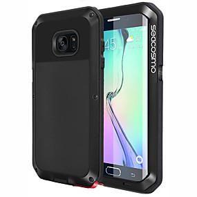 hesapli Yeni Gelenler-Pouzdro Uyumluluk Samsung Galaxy Galaxy S6 Edge Şoka Dayanıklı / Toz Geçirmez Arka Kapak Solid Sert PC için S6 edge