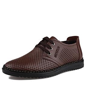 baratos Oxfords Masculinos-Homens Sapatos formais Sintéticos Verão Oxfords Preto / Marron