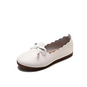 voordelige Damesschoenen met platte hak-Dames Platte schoenen Platte hak Ronde Teen PU Informeel Herfst / Lente zomer Zwart / Kameel / Wit