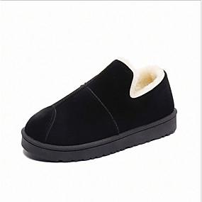 voordelige Damesinstappers & loafers-Dames Loafers & Slip-Ons Platte hak Synthetisch Winter Grijs / Bruin / Groen