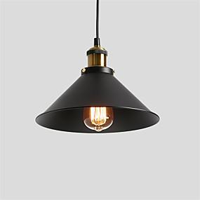 abordables Plafonniers-luminaire suspendu vintage 1 abat-jour en métal salon salle à manger couloir diamètre diamètre 26cm