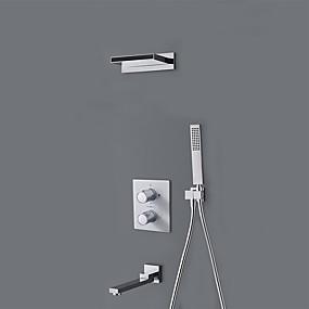 povoljno Poboljšanje uvjeta stanovanja-Slavina za tuš - Suvremena Chrome Ostalo Keramičke ventila Bath Shower Mixer Taps