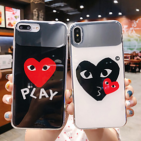 billige iPhone-etuier-taske til Apple iPhone xr / iphone xs maks mønster / spejl bagcover tegneserie / hjertesmykker tpu til iphone x xs 8 8plus 7 7plus 6 6plus 6s 6splus