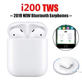 billige Nasjonal forfremmelse-originale i200 tws ekte pop-up-berøringsfunksjon trådløs lading ørepropper bluetooth 5.0 6d bass øretelefon