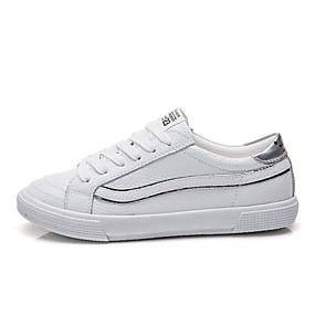 voordelige Damessneakers-Dames Sneakers Platte hak Ronde Teen Polyester Lente Wit