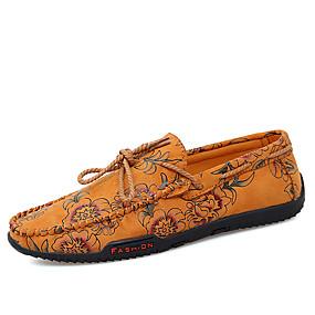 baratos Sapatilhas e Mocassins Masculinos-Homens Sapatos Confortáveis Couro / Lona Verão Casual Mocassins e Slip-Ons Caminhada Respirável Amarelo / Vermelho / Azul / Ao ar livre