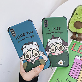 cheap Cool & Fashion Cases for iPhone-Case For Apple iPhone XS / iPhone XR / iPhone XS Max Dustproof / Pattern Back Cover Word / Phrase / Cartoon Soft TPU