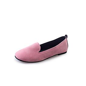voordelige Damesschoenen met platte hak-Dames Platte schoenen Platte hak Ronde Teen Microvezel Lente & Herfst Zwart / Roze / Grijs