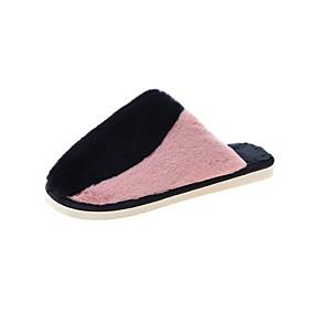رخيصةأون قباقيب نسائية-نسائي قباقيب والحفاية كعب مسطخ أمام الحذاء على شكل دائري فرو طبي خريف & شتاء أسود / أرجواني / أخضر