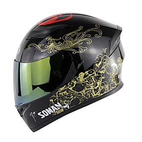 billige Nyankomne i august-soman dobbelt linse motorsykkel hjelm hel ansikt motocross hjelm unisex moto hjelm ece godkjenning sm960-k5