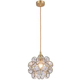 abordables Plafonniers-Lampe suspendue Lumière d'ambiance Laiton Cuivre Verre 110-120V / 220-240V