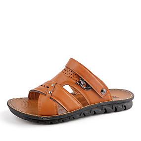 baratos Sandálias Masculinas-Homens Sapatos Confortáveis Microfibra Primavera Verão Formais Sandálias Respirável Amarelo / Marron / Khaki