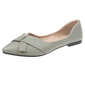 voordelige Damesschoenen met platte hak-Dames Platte schoenen Platte hak Gepuntte Teen PU Herfst Zwart / Groen / Beige