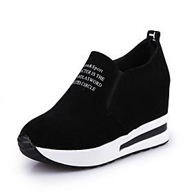 voordelige Damesinstappers & loafers-Dames Loafers & Slip-Ons Creepers Ronde Teen Suède Brits / minimalisme Herfst winter Zwart / Bordeaux