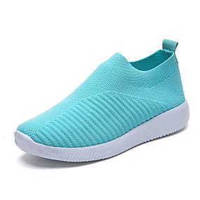 baratos Sapatos Esportivos Femininos-Mulheres Tênis Sem Salto Ponta Redonda Com Transparência Verão Preto / Azul / Rosa claro