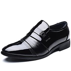 baratos Sapatilhas e Mocassins Masculinos-Homens Sapatos Confortáveis Couro Ecológico Verão Mocassins e Slip-Ons Preto / Festas & Noite