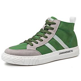 baratos Tênis Masculino-Homens Sapatos Confortáveis Lona Primavera / Outono Esportivo / Casual Tênis Preto / Verde / Cinzento