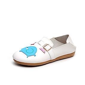 voordelige Damesinstappers & loafers-Dames Loafers & Slip-Ons Platte hak Ronde Teen Dierenprint PU Zoet Wandelen Zomer Oranje / Geel / Blauw / Kleurenblok