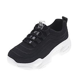 voordelige Damessneakers-Dames Sneakers Lage hak Ronde Teen PU Sportief / Dad Shoes Hardlopen / Fitness & Crosstraining Lente & Herfst / Lente zomer Zwart / Wit / Perzik