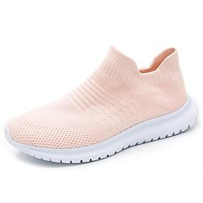 voordelige Damesinstappers & loafers-Dames Sneakers Platte hak Ronde Teen Netstof Lente Zwart / Roze / Dagelijks