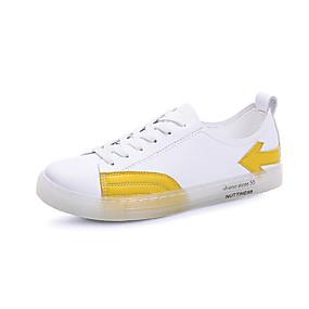 voordelige Damessneakers-Dames Sneakers Platte hak Ronde Teen Rubber Informeel / Brits Wandelen Herfst winter Geel / Rood / Blauw