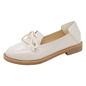 voordelige Damesschoenen met platte hak-Dames Loafers & Slip-Ons Platte hak Ronde Teen PU minimalisme Zomer Zwart / Beige
