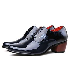 baratos Oxfords Masculinos-Homens Sapatos Confortáveis Couro Ecológico Outono Casual Oxfords Não escorregar Preto / Azul Escuro