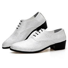 Χαμηλού Κόστους Αντρικά Oxford-Ανδρικά Παπούτσια άνεσης Μικροΐνα Φθινόπωρο & Χειμώνας Oxfords Λευκό / Χρυσό / Ασημί
