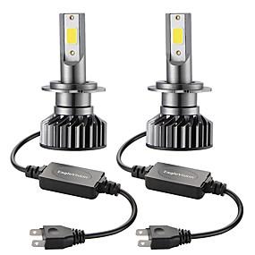 abordables 70%OFF-2pcs mini voiture led phare ampoule h7 salut / lo 72w phare de voiture 6000k
