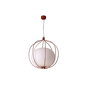 abordables Plafonniers-ZHISHU Globe Lampe suspendue Lumière dirigée vers le bas Plaqué Finitions Peintes Métal Verre LED, Contrôle WIFI 110-120V / 220-240V Blanc Crème / Blanc / Wi-Fi intelligent