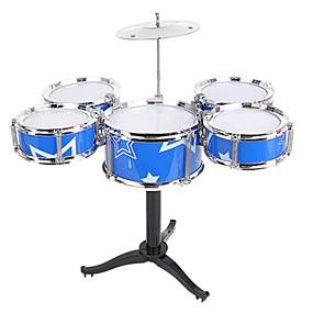 billige Leker til musikk, kunst og tegning-Trommesett Musikk leketøy Pedagogisk leke Trommesett Jazz Drum simulering Gutt Jente Barne Leketøy Gave