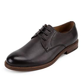 baratos Oxfords Masculinos-Homens Sapatos formais Couro Primavera Oxfords Preto / Café