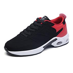 baratos Sapatos Esportivos Masculinos-Homens Sapatos Confortáveis Jeans Primavera / Outono Esportivo / Casual Tênis Corrida / Caminhada Respirável Preto / Branco e Preto / Vermelho