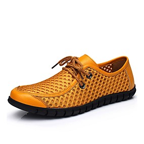 baratos Oxfords Masculinos-Homens Tênis Clunky Com Transparência Verão Oxfords Amarelo / Azul / Marron