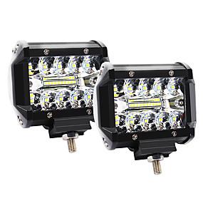 お買い得  9月の新着-4インチ60W 3列LEDライトワーキングライトドライブオフロードライトルーフストリップライト-2個