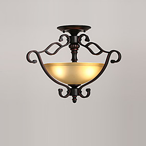 abordables Plafonniers-plafonnier encastré montage verre antique lumières downlight peint finitions plafonniers luminaires pour salon salle à manger