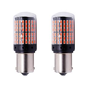 abordables 70%OFF-2pcs p21w py21w t20 w21w 7440 clignotant lumière s25 144 smd canbus sans erreur de voiture ampoule de frein lampe12-24v