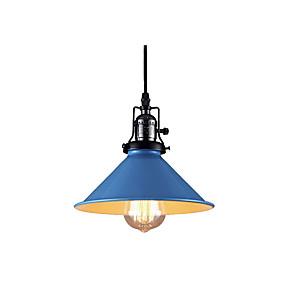 abordables Plafonniers-moderne simple suspension métallique suspension industrielle lumière suspendue downlight galvanisé peint finitions pour porche salon