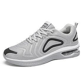 baratos Sapatos Esportivos Masculinos-Homens Sapatos Confortáveis Tissage Volant Primavera / Outono Esportivo / Casual Tênis Corrida Respirável Preto / Branco / Cinzento