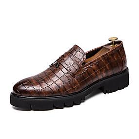 baratos Sapatilhas e Mocassins Masculinos-Homens Sapatos Confortáveis Couro Ecológico Verão Mocassins e Slip-Ons Preto / Marron / Festas & Noite