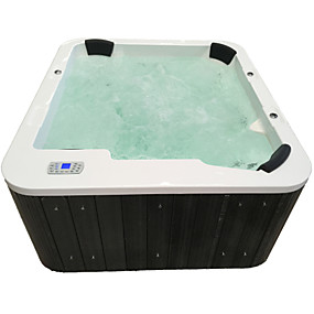 cheap Bathtub-Outdoor spa tub whirlpool Massage bathtubs 5 people Freestanding Jacuzzi