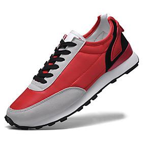 baratos Tênis Masculino-Homens Sapatos Confortáveis Sintéticos Primavera Verão / Outono & inverno Casual Tênis Preto / Vermelho / Azul