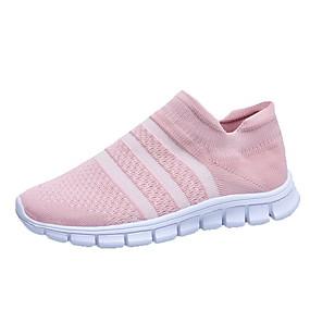 voordelige Damesschoenen met platte hak-Dames Platte schoenen Plateau Ronde Teen Rubber / PU Lente zomer / Herfst winter Zwart / Roze / Grijs