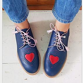 voordelige Damesschoenen met platte hak-Dames Platte schoenen Platte hak Ronde Teen PU Zomer Zwart / Zilver / Blauw