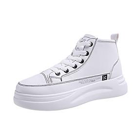 voordelige Damessneakers-Dames Sneakers Creepers Ronde Teen PU Herfst winter Zwart / Wit