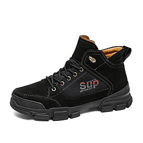 abordables Botas de Hombre-Hombre Los zapatos de cuero Tela / Cuero de Cerdo Invierno Clásico / Casual Botas Paseo Mantiene abrigado Botines / Hasta el Tobillo Negro / Amarillo