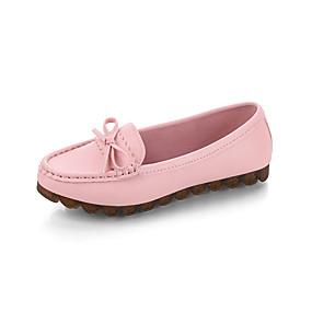 voordelige Damesschoenen met platte hak-Dames Platte schoenen Platte hak Ronde Teen Strik PU Zoet Herfst Zwart / Wit / Roze